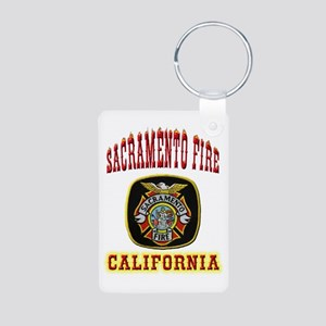 Sacramento Fire Department Aluminum Photo Keychain