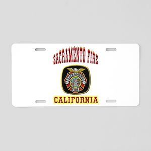 Sacramento Fire Department Aluminum License Plate