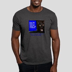 Cat Blue Screen Dark T-Shirt