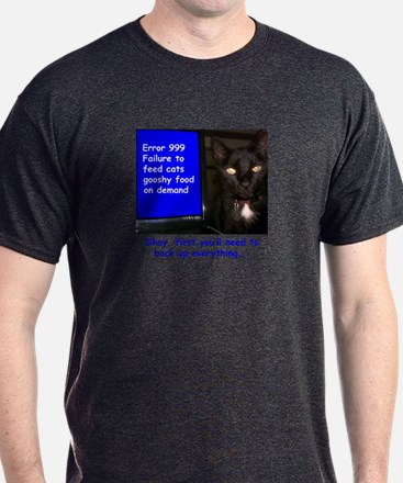 Cat Blue Screen T-Shirt