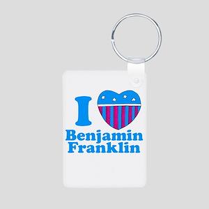 Benjamin Franklin Aluminum Photo Keychain