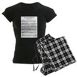A Major Scale Women's Dark Pajamas