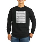 Ab Major Scale Long Sleeve Dark T-Shirt