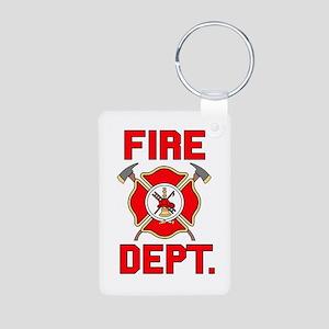 Fire Department - Aluminum Photo Keychain
