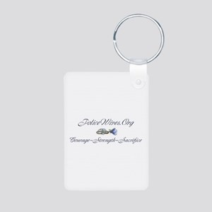 Policewives Courage Strength Aluminum Photo Keycha