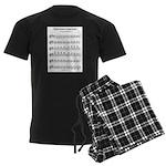 A Major Scale Men's Dark Pajamas
