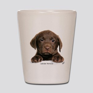 Chocolate Labrador Retriever Shot Glass