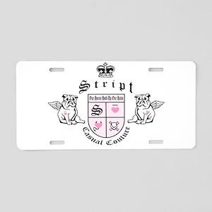 Stript Casual Couture Royal C Aluminum License Pla