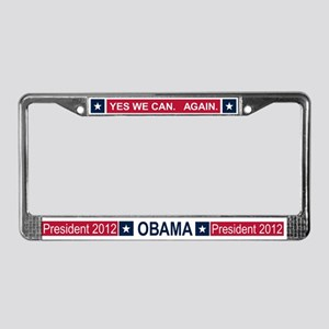 Obama President 2012 License Plate Frame