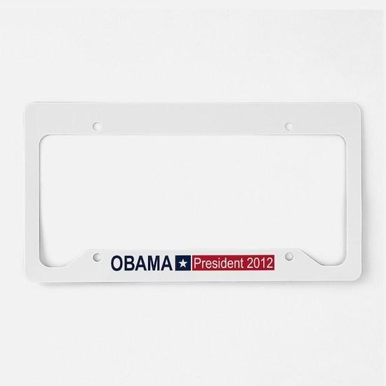 Obama President 2012 License Plate Holder