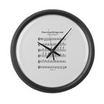 Bb Major Scale Large Wall Clock