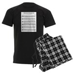 Bb Major Scale Men's Dark Pajamas