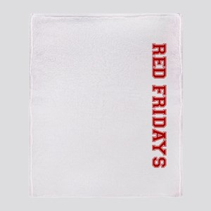 Red Fridays Side Throw Blanket