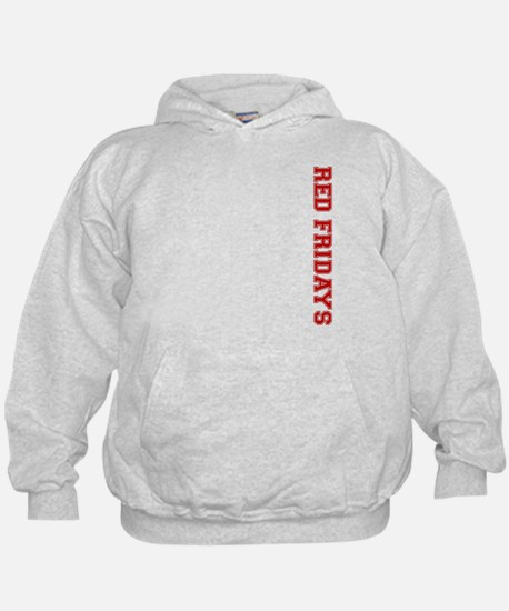 Red Fridays Side Hoodie