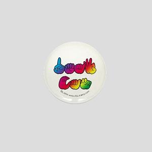 Rainbow Deaf Can Mini Button