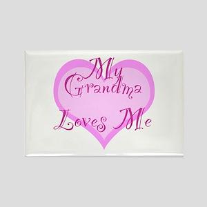 My Grandma Loves Me Rectangle Magnet