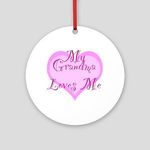 My Grandma Loves Me Ornament (Round)