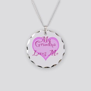 My Grandma Loves Me Necklace Circle Charm