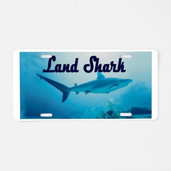 Land Shark Aluminum License Plate