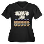 Cinco De Mayo Dark Version Women's Plus Size V-Nec