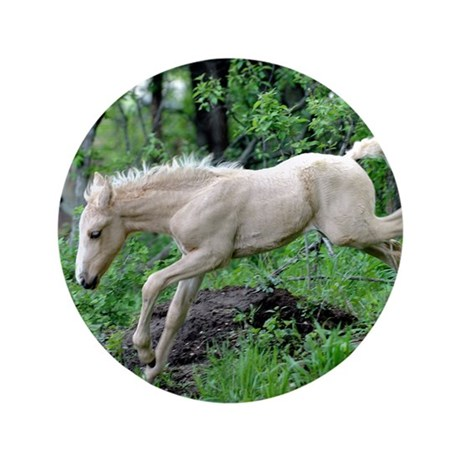 "Leaping Colt 3.5"" Button"