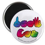 Rainbow Deaf Can Magnet