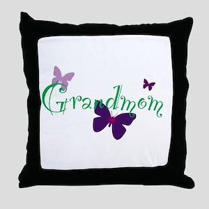 Grandmom Butterflys Throw Pillow