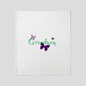 Grandmom Butterflys Throw Blanket