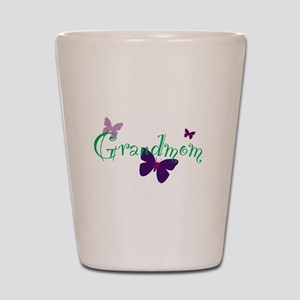 Grandmom Butterflys Shot Glass