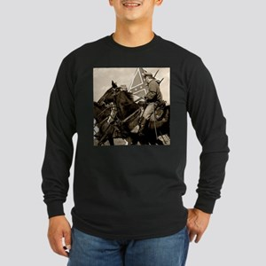Civil War Cavalry Long Sleeve Dark T-Shirt