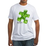 PuzzlesPuzzle (Green) Fitted T-Shirt