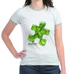 PuzzlesPuzzle (Green) Jr. Ringer T-Shirt