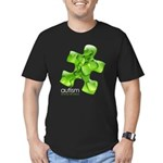 PuzzlesPuzzle (Green) Men's Fitted T-Shirt (dark)