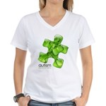 PuzzlesPuzzle (Green) Women's V-Neck T-Shirt