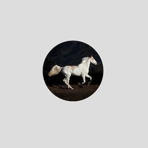 Sabino White Horse Mini Button