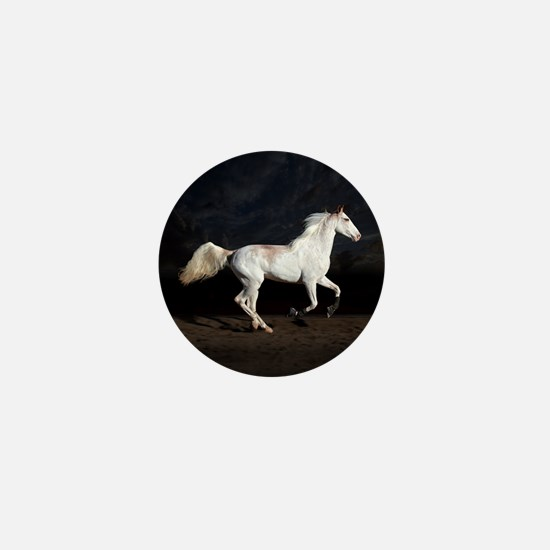 Sabino White Horse Mini Button