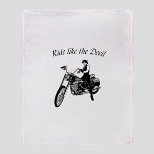 Ride Like The Devil Throw Blanket