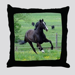 Walker in Spring Throw Pillow