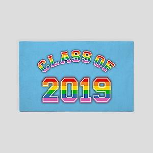 Class Of 2019 Rainbow Area Rug