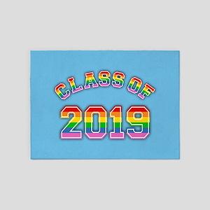 Class Of 2019 Rainbow 5'x7'Area Rug