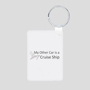 My Other Car... Cruise Ship Aluminum Photo Keychai