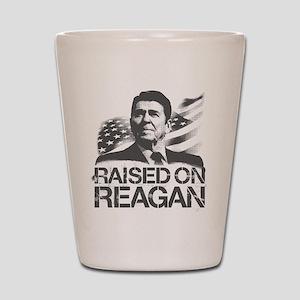 Raised on Reagan Shot Glass