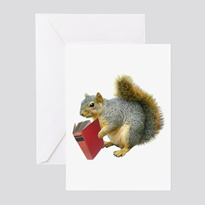 Squirrel with Book Greeting Cards (Pk of 20)