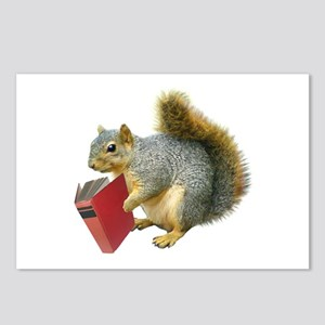 Squirrel with Book Postcards (Package of 8)
