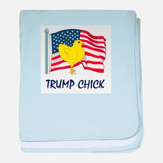 Trump Chick baby blanket