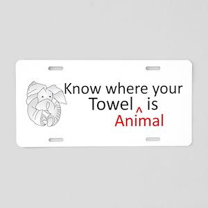 Towel Animal Aluminum License Plate