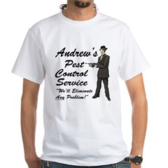 Andrew's Pest control Service White T-Shirt