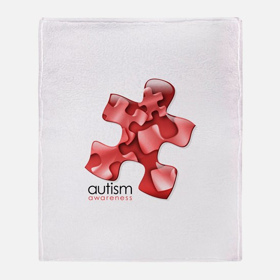 PuzzlesPuzzle (Red) Throw Blanket