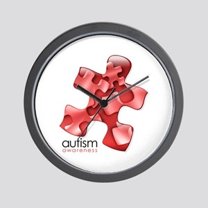 PuzzlesPuzzle (Red) Wall Clock
