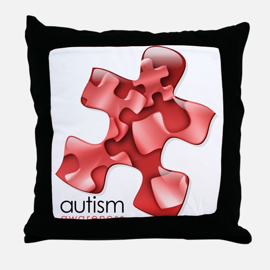 PuzzlesPuzzle (Red) Throw Pillow
